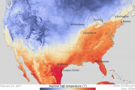 Late winter 'heatwave' hits the U.S. in February