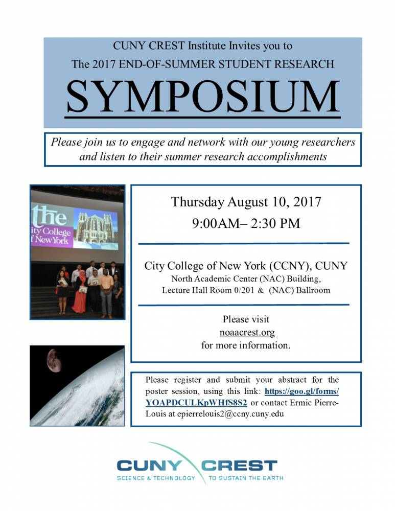 CUNY CREST End-of-Summer Research Symposium