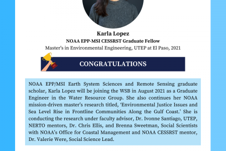 Karla Lopez will Join WSB as a Graduate Engineer in the Water Resource Group
